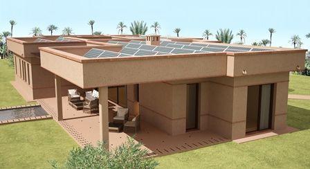 Construction d 39 une villa cothermique marrakech for Construire sa villa